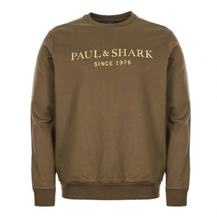 Paul and Shark Sweatshirt | A19P1829|209 Olive