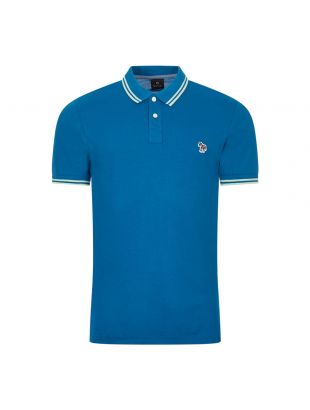 Paul Smith Polo Twin Tipped Blue/Lime M2R 183KZ D20068 44A