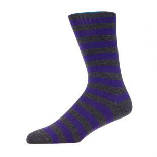 2 Pack Socks – Grey / Purple