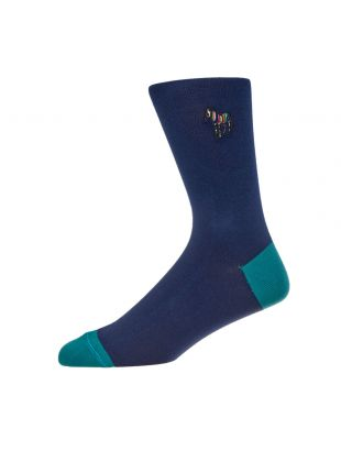 Paul Smith Socks Zebra | M1A 380AI AK999 47 Navy / Green