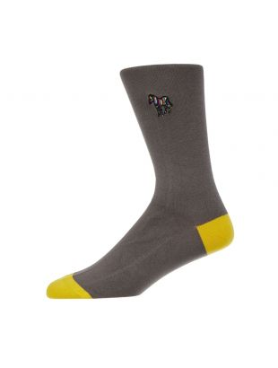 Zebra Socks - Slate / Yellow