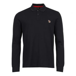Paul Smith Zebra Logo Polo Shirt PUPD-115L-ZEBRA-49 In Navy