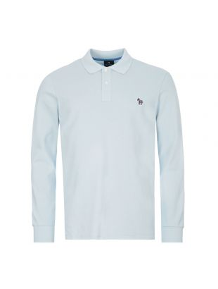 paul smith long sleeve polo shirt | M2R 115LZ D20067 40A blue