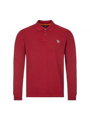 Long Sleeve Polo - Dark Red