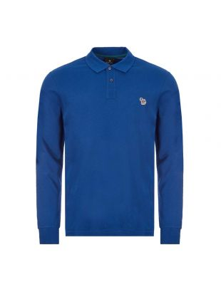 Paul Smith Long Sleeve Zebra Polo Shirt | M2R 115LZ E20067 47A Blue