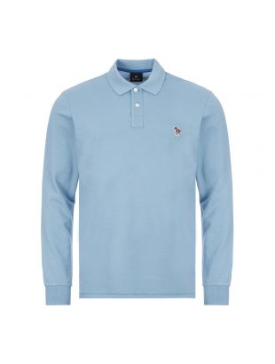 Paul Smith Long Sleeve Zebra Polo Shirt | M2R 115LZ E20067 Light Blue