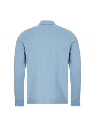 Long Sleeve Zebra Polo Shirt - Light Blue