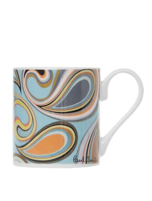 Printed Mug - Blue / White