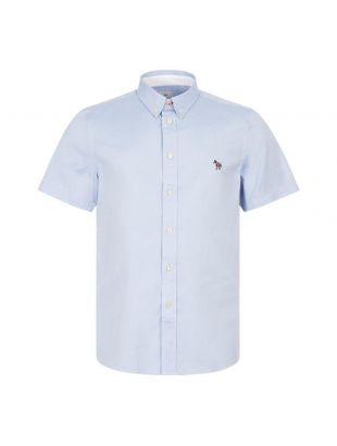 Paul Smith Short Sleeve Zebra Shirt | M2R 285U AZEBRA 44 Blue