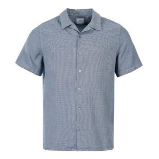 Paul Smith Short Sleeve Shirt M2R 114RM A20633 49 Navy