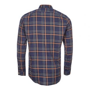 Shirt - Navy / Brown Check