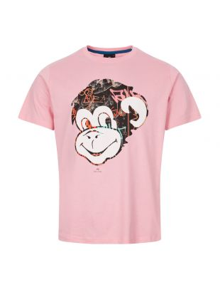 paul smith t-shirt monkey | M2R 011R AP1894 21 pink