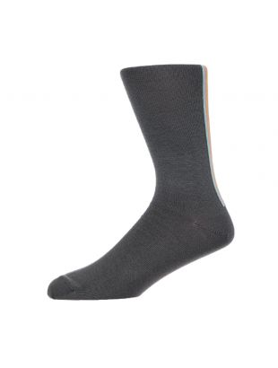 Paul Smith Stripe Socks | M1A 194B AK170 76 Slate