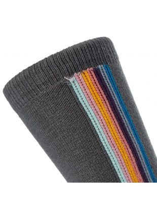Stripe Socks - Slate