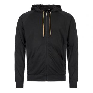 Paul Smith Sleepwear Zipped Hoodie M!A|500D|AU279|79 In Black At Aphrodite Clothing