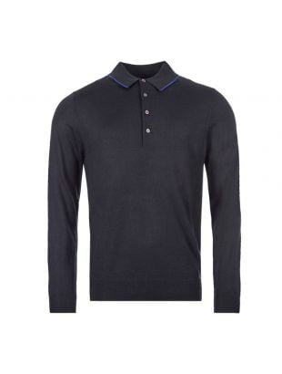 Long Sleeve Polo Shirt - Navy