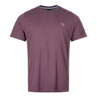 Paul Smith T-Shirt Zebra Logo M2R 011RZ C20064 54 Aubergine