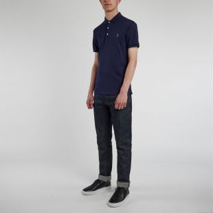 Slim Fit Polo - Navy