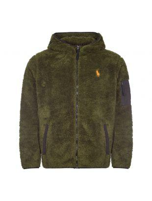 Ralph Lauren Zipped Hooded Fleece   710824514 003 Olive   Aphrodite