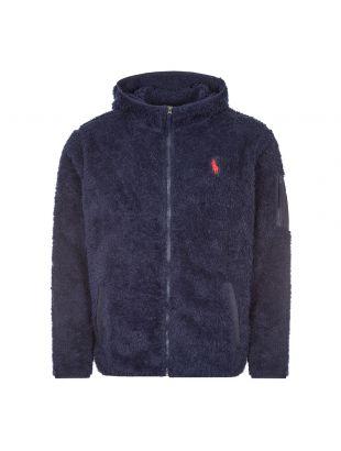 Ralph Lauren Zipped Hooded Fleece   710824514 005 Navy