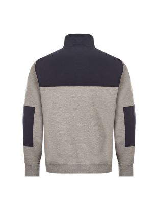 Half Zip Sweat - Grey/Navy
