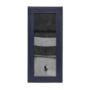 Ralph Lauren 3 Pack Rugby Socks | 449767289 002 Grey / Navy