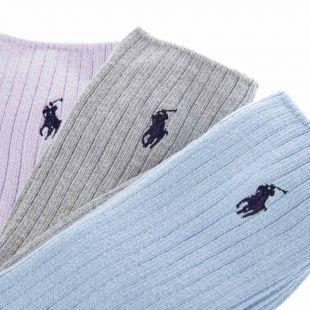 3 Pack Socks - Blue / Grey / Lavender
