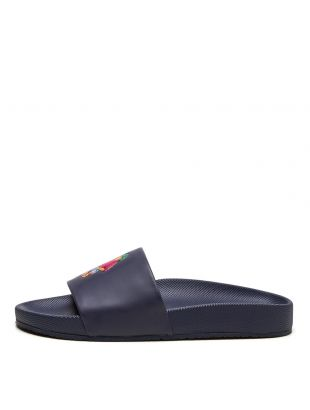Cayson Polo Bear Slides - Navy