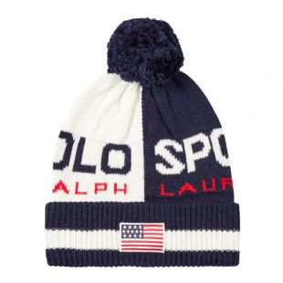 Ralph Lauren Bobble Hat | 449775571 001 Chic Cream