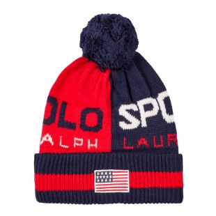 Ralph Lauren Bobble Hat | 449775571 002 Red