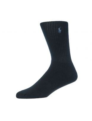Ralph Lauren 3 Pack Socks | 449655211 001 Navy / Grey / Black