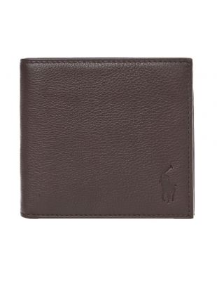 Ralph Lauren Billfold Wallet | 405526127 001 Pebbled Brown