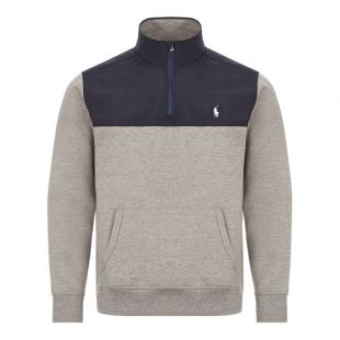 Ralph Lauren Half Zip Sweat Grey/Navy 710792892 003