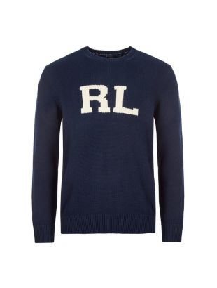 ralph lauren knitted sweatshirt 710776780 001 navy
