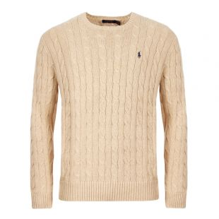 Ralph Lauren Cable Knit Sweater | 710702613|019 Natural | Aphrodite Clothing