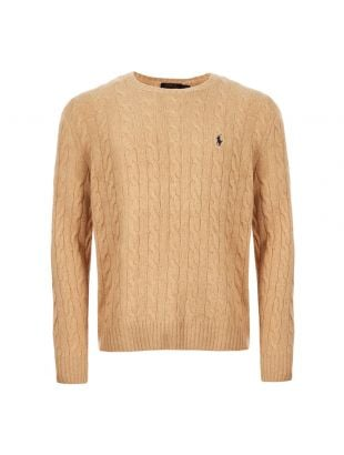 Ralph Lauren Cable Sweater | 710719546 020 Camel