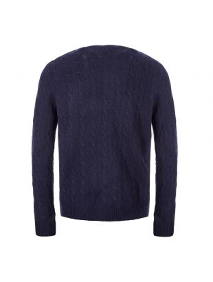 Cable Sweater – Navy
