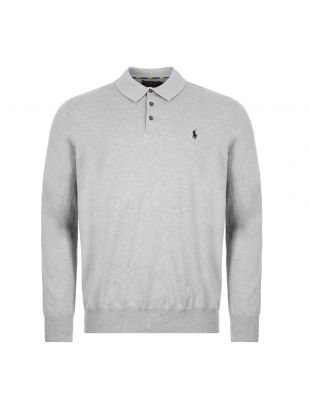 Ralph Lauren Long Sleeve Knitted Polo | Grey 710775900 | Aphrodite