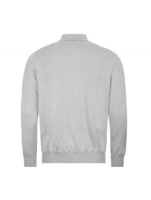 Long Sleeve Knitted Polo - Grey