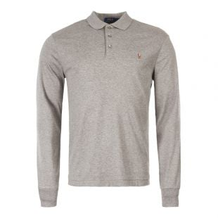 Ralph Lauren Long Sleeve Polo Shirt 710743841 003 In Grey
