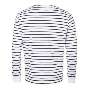 Long Sleeve T-Shirt Stripe - White / Navy
