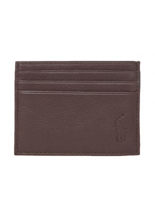 Ralph Lauren Card Holder Embossed | 405526231 006 Brown