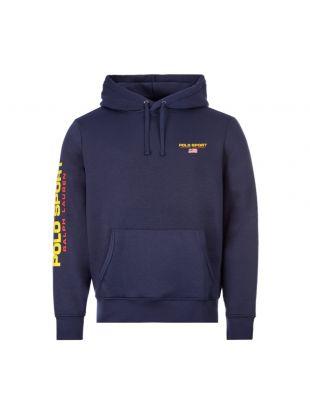 Hooded Polo Logo - Navy