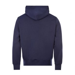 Hooded Polo Logo - Navy