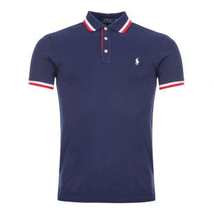 Ralph Lauren Polo Shirt Twin Tipped | 710784005 001 Navy / Red / White