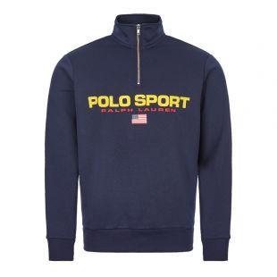 Ralph Lauren Sweatshirt Half Zip   710750456 003 Navy