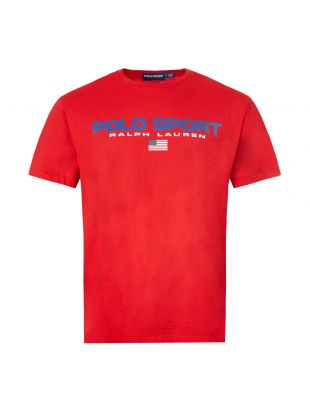 Ralph Lauren T-Shirt Polo Sport 710750444|001In Red At Aphrodite Clothing