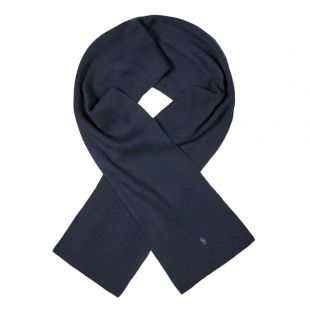 Ralph Lauren Scarf Ribbed | 710761417 003 Navy