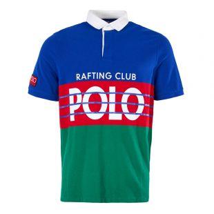 Ralph Lauren Polo Hi-Tech Short Sleeve Rugby Shirt 710717689 001 Royal/Multi