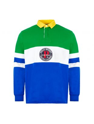 ralph lauren rugby shirt 710790856 001 green / blue